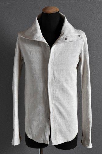 N/07 ハイネック シャツジャケット 44 OFF WHITE エヌゼロナナ