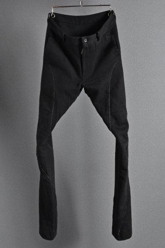 希少 N/07 エヌゼロナナ N/07 cotton/twill overlock spyral 3dimention Pants 46 BLACK