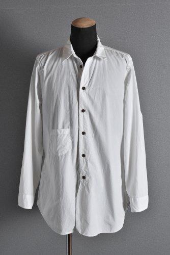美品 19AW KLASICA SABRON BUTTON FRY SHIRT / TYPE-WRITER CLOTH 3 WHITE クラシカ