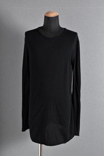 美品 Incarnation コットンシルク L/S オーバーロック カットソー M BLACK/RED