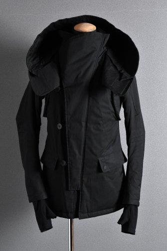 希少 N/07 ARMY JACKET N-3B / SUPIMA WEATHER CLOTH 3M Thinsulate HI-LOFT 46 BLACK エヌゼロナナ