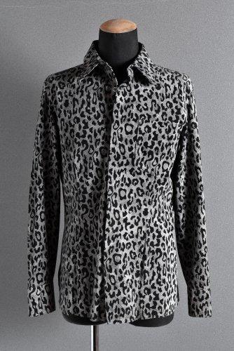 新品 19AW ISAMUKATAYAMA BACKLASH レオパードプリント ピッグスエード レザーシャツ M