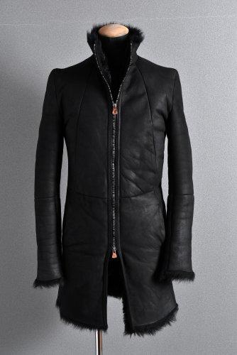 新品 18AW LOOM別注 ierib exclusive middle coat / Toscana Baby Sheep Shearling 46 BLACK