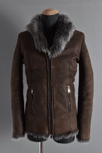 美品 18AW A.F ARTEFACT SHEEP SHEARLING MOUTON JACKET 46 BROWN