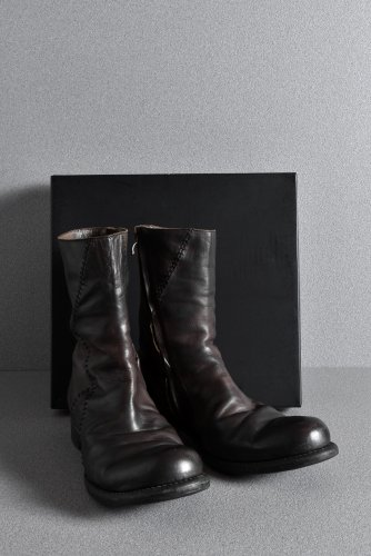 美品 16AW DEVOA GUIDI CALF LEATHER SIDE ZIP BOOTS 42 BLACK / BROWN