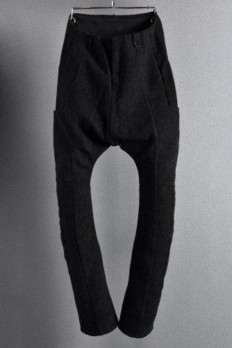 美品 LIEN ウール/ラミー アナトミカル 6ポケット サルエルパンツ BLACK リアン