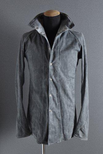 美品 16SS N/07 コールドダイ シャツジャケット 46 SUMI GREY エヌゼロナナ