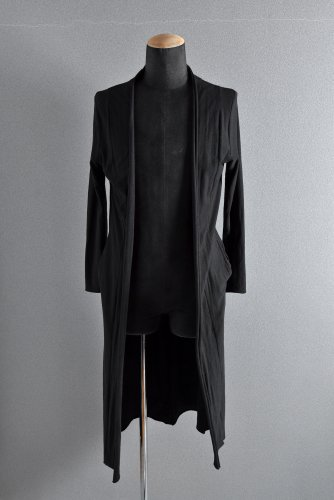 first aid to the injured  Front Layered Long Cardigan 1 BLACK