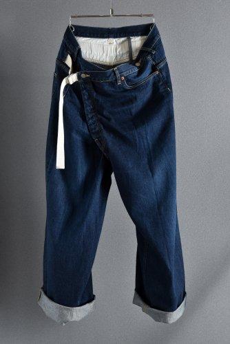 美品 19AW KAZUYUKI KUMAGAI Oversized Wrap Pants [11oz Old Straight Denim] 2 INDIGO