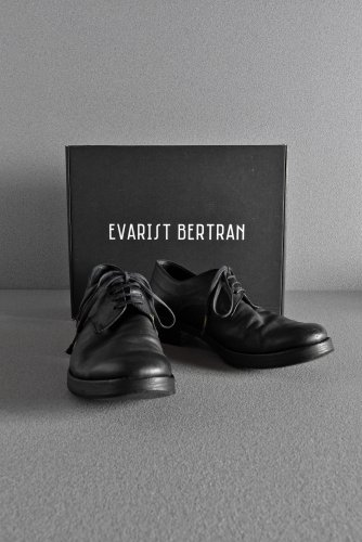 美品 20SS EVARIST BERTRAN EB1 Derby Shoes / Kangaroo (BLACK) 42 BLACK