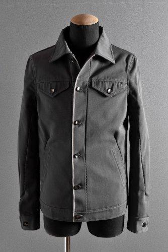 新品 19SS LINEA_F by incarnation Cotton Selvedge Jean Jacket S GRAY