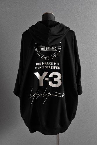 18SS Y-3 Yohji Yamamoto 15周年 オーバーサイズ フーディー パーカー S BLACK ワイスリー