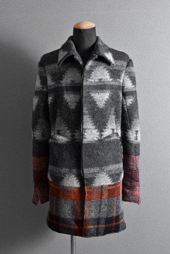 新品 incarnation Wool Jacquard Long Coat