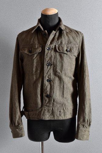 美品 19AW sus-sous Cotton / Linen overall blouses BEIGE シュスー
