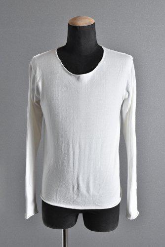 美品 17AW wjk cut-off neck cut&sewn L/S カットソー M WHITE