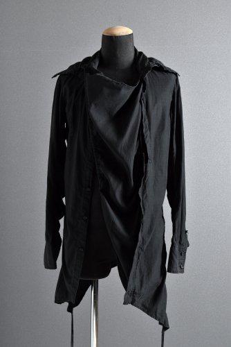 Yasuyuki Ishii (ヤスユキ イシイ) テンセル ロングシャツ M BLACK