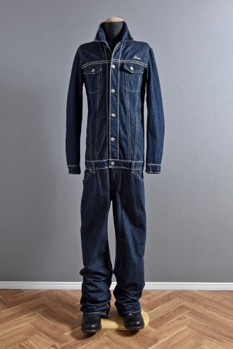 美品 DELAY by Win & Sons 表チェーン One Wash Denim ALL in ONE Size 4 INDIGO