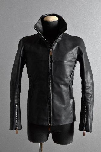 美品 19AW ierib  stand neck jacket / Nicolas Italy Vachetta 44 BLACK