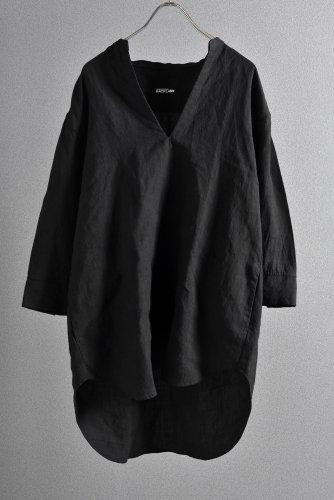 """美品 ISAMUKATAYAMA BACKLASH 19SS Linen Skipper Shirt """"M"""" 黒"""