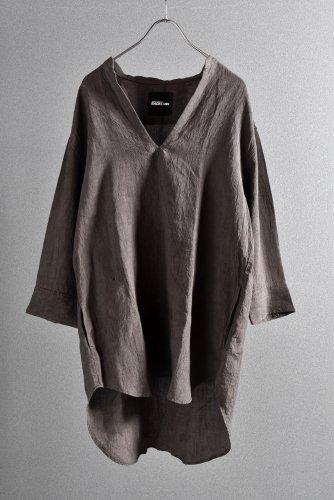 """美品 ISAMUKATAYAMA BACKLASH 19SS Linen Skipper Shirt """"M"""" ブラウン"""