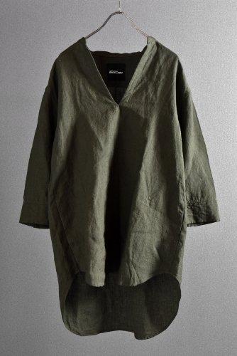 """美品 ISAMUKATAYAMA BACKLASH 19SS Linen Skipper Shirt """"M"""" カーキ"""