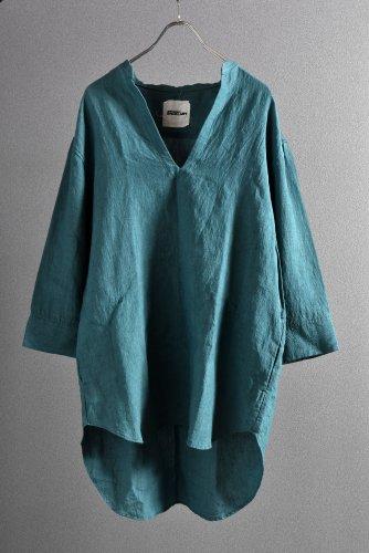 """美品 希少色 ISAMUKATAYAMA BACKLASH 19SS Linen Skipper Shirt """"M"""" ターコイズ"""