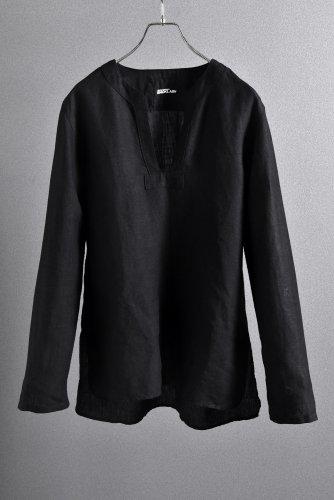 """新品 19SS ISAMUKATAYAMA BACKLASH Linen Skipper Shirt Long Sleevs """"M"""" 黒"""