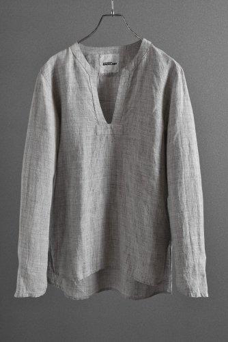 """新品 19SS ISAMUKATAYAMA BACKLASH Linen Skipper Shirt Long Sleevs """"M"""" ライトグレー"""