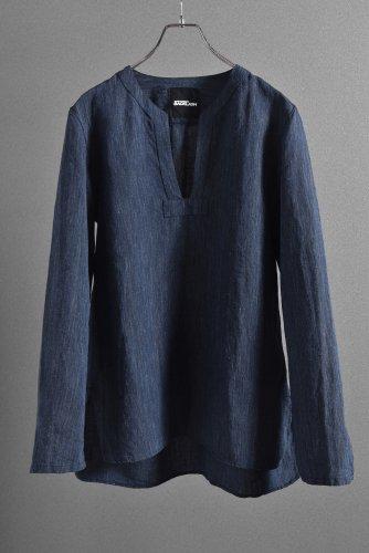 """新品 19SS ISAMUKATAYAMA BACKLASH Linen Skipper Shirt Long Sleevs """"M"""" インディゴ"""