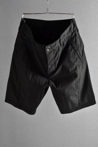 新品 15AW ISAMUKATYAMA BACKLASH × Dhyana コットン/ナイロン 製品染め セミサルエル パンツ 1 黒