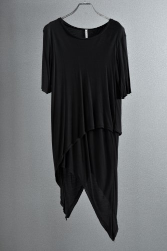 18SS First Aid to the injured アシンメトリー モダール カットソー 3 BLACK