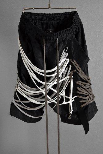 新品 A.F ARTEFACT 21SS Megalace Sarrouel Shorts 3 BLACK  一点物