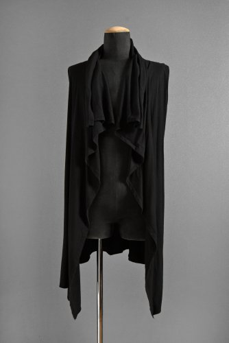 first aid to the injured  Drape Cardigan 0 BLACK