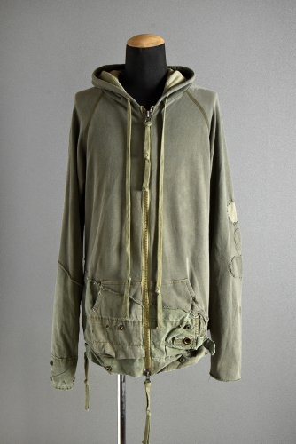 """<img class='new_mark_img1' src='https://img.shop-pro.jp/img/new/icons1.gif' style='border:none;display:inline;margin:0px;padding:0px;width:auto;' />新品 GREG LAUREN  """"TENT ZIP FRONT HOODIE"""