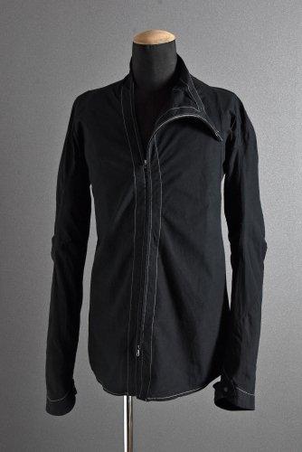 LEON EMANUEL BLANCK 製品染め ディストーション シャツジャケット 46 ブラック