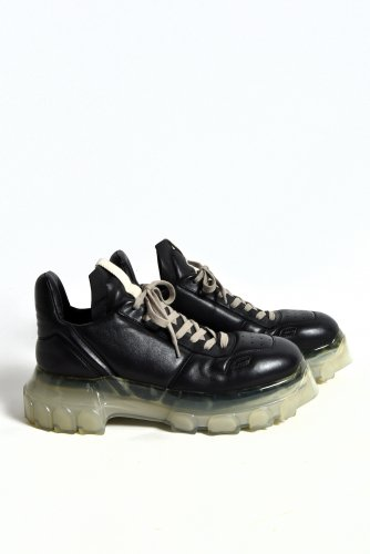 <img class='new_mark_img1' src='https://img.shop-pro.jp/img/new/icons1.gif' style='border:none;display:inline;margin:0px;padding:0px;width:auto;' />Rick Owens 新品 Black Maximal Tractor Sneakers 40 (25-25.5cm) リックオウエンス 希少