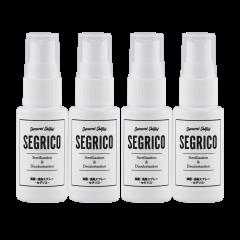素敵なプレゼント付き!!  SEGRICO(セグリコ)除菌 消臭 ミニスプレー4本セット (30ml・100ppm) 超高純度 次亜塩素酸 ナトリウム 単一製剤
