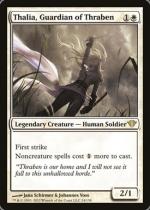 スレイベンの守護者、サリア/Thalia, Guardian of Thraben(DKA)【英語】
