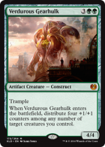 新緑の機械巨人/Verdurous Gearhulk(KLD)【英語】