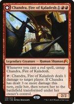 カラデシュの火、チャンドラ // 燃え盛る炎、チャンドラ/Chandra, Fire of Kaladesh // Chandra, Roaring Flame(ORI)【英語】