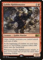ゴブリンの熟練扇動者/Goblin Rabblemaster(M15)【英語】