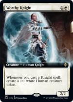 立派な騎士/Worthy Knight(ELD)【英語FOIL】(拡張アート)