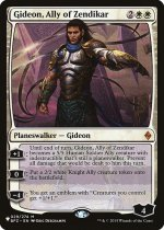 ゼンディカーの同盟者、ギデオン/Gideon, Ally of Zendikar(PLIST)【英語】