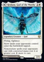 傑士の神、レーデイン/Reidane, God of the Worthy // Valkmira, Protector's Shield(KHM)【英語】