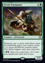 エルフの戦練者/Elvish Warmaster(KHM)【英語FOIL】