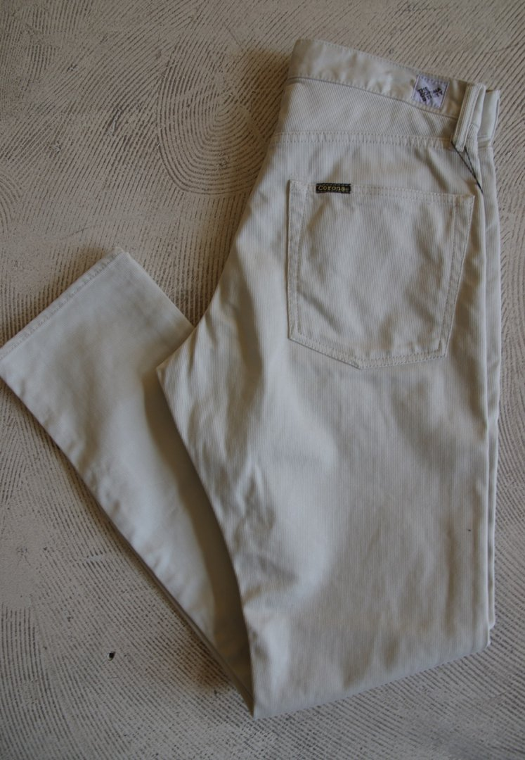 CORONA CP001S W01 FIVE POCKET・TAPERED CUT 1610W : [COTTON PIQUE / OFF WHITE]
