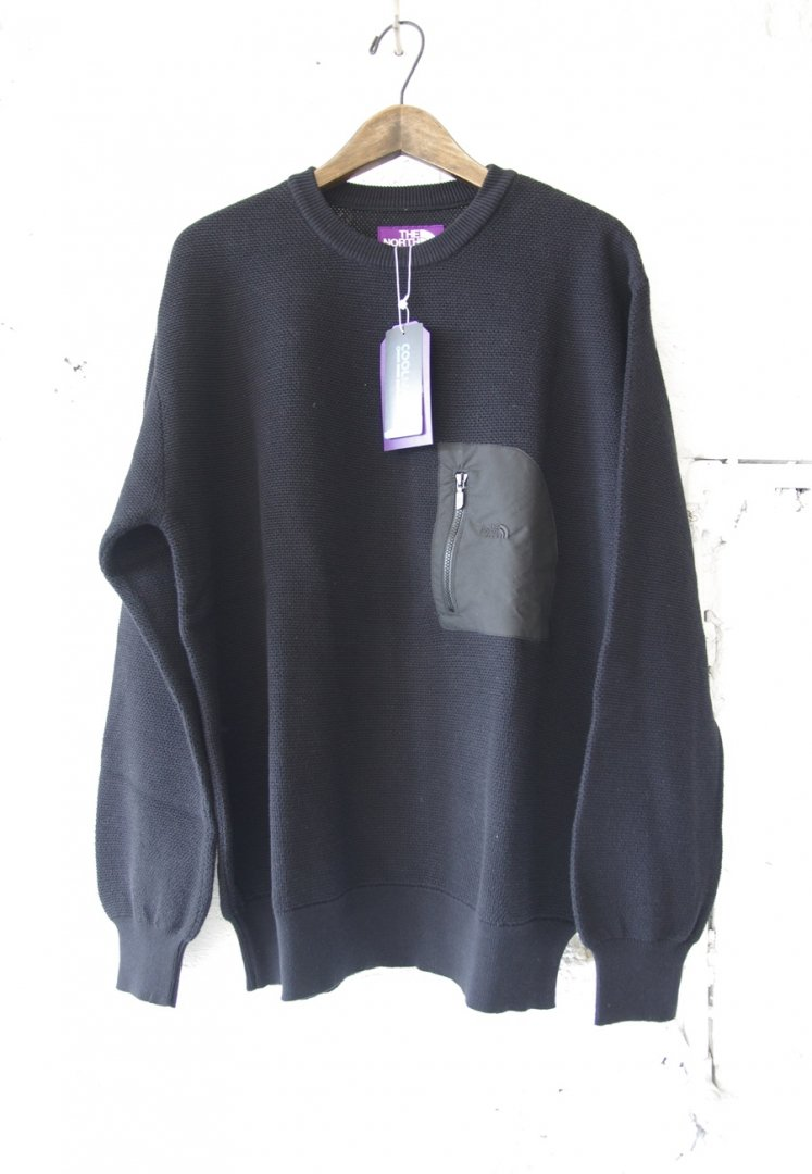 THE NORTH FACE PURPLE LABEL NT6100N PACK FIELD SWEATER [BLACK K]