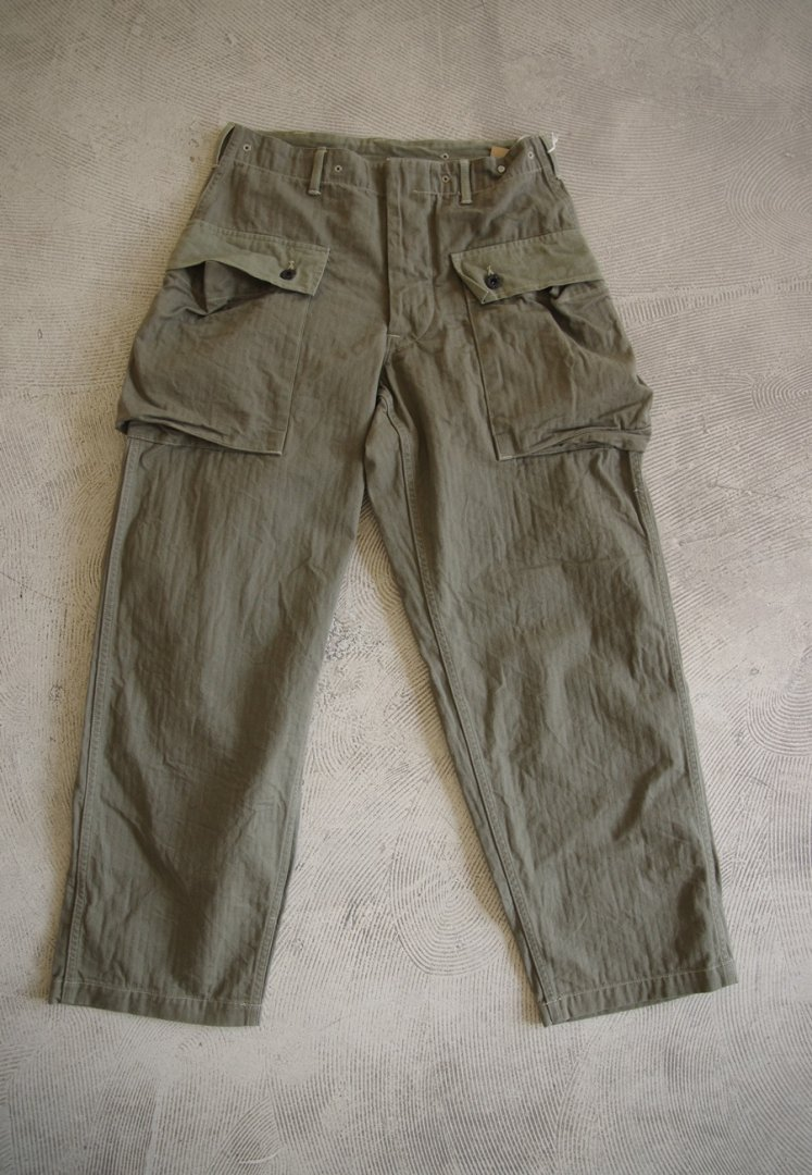 WAREHOUSE  Lot 1097 USMC HERRINGBONE MONKEY PANTS [OD]