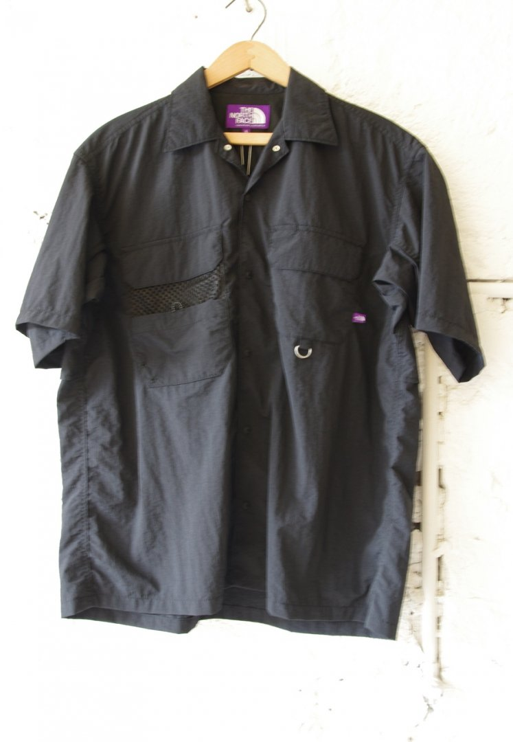 THE NORTH FACE PURPLE LABEL NT3116NT LOUNGE FIELD H/S SHIRT [BLACK]