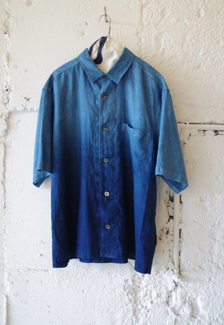 BLUE BLUE JAPAN 700085158 リネン ホンアイグラデーション リラックス シャツ[ONE]